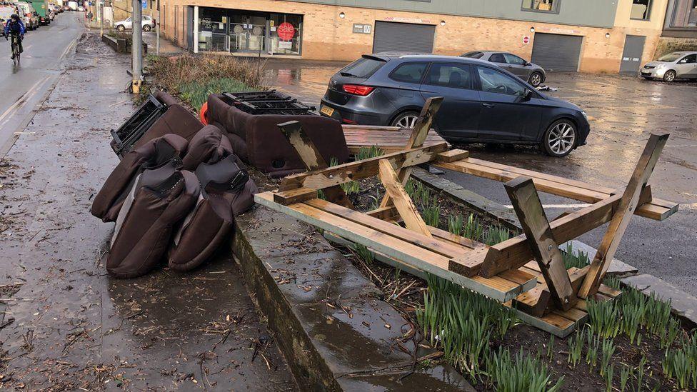 Floods in Mytholmroyd