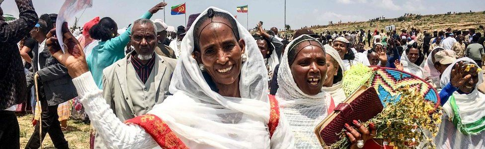 Celebrations as border is reopened