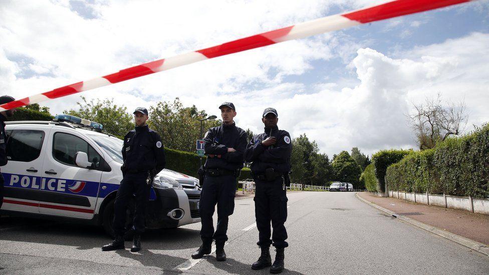 The scene of Larossi Abballa's attack in Magnanville