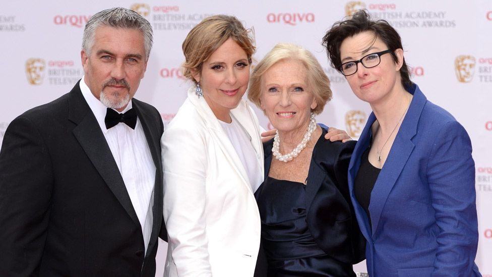Paul Hollywood, Mel Giedroyc, Mary Berry and Sue Perkins at the 2013 Bafta TV Awards