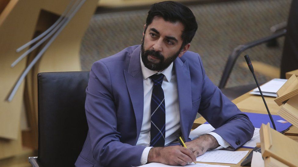 Justice Secretary Humza Yousaf during a debate on the Hate Crime and Public Order Bill