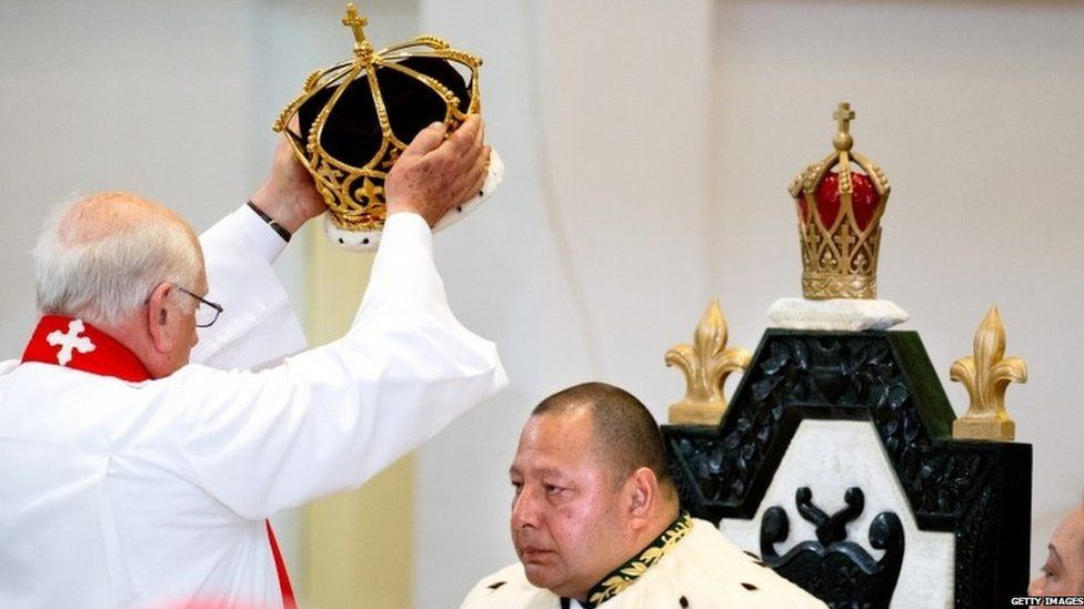 King Tupou VI of Tonga is crowned on July 4, 2015 in Nuku'alofa, Tonga.