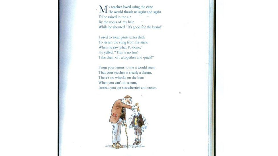 Roald Dahl: Long-lost poem recovered by Tyrone school - BBC News