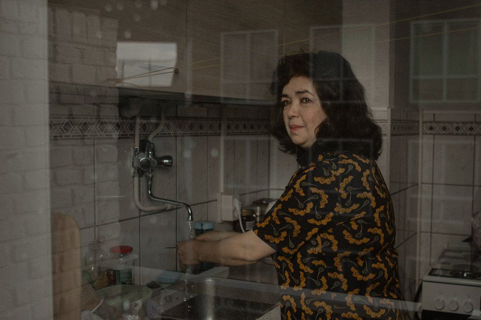 Qelbinur Sedik recently moved out of refugee accommodation into a small home in the Netherlands