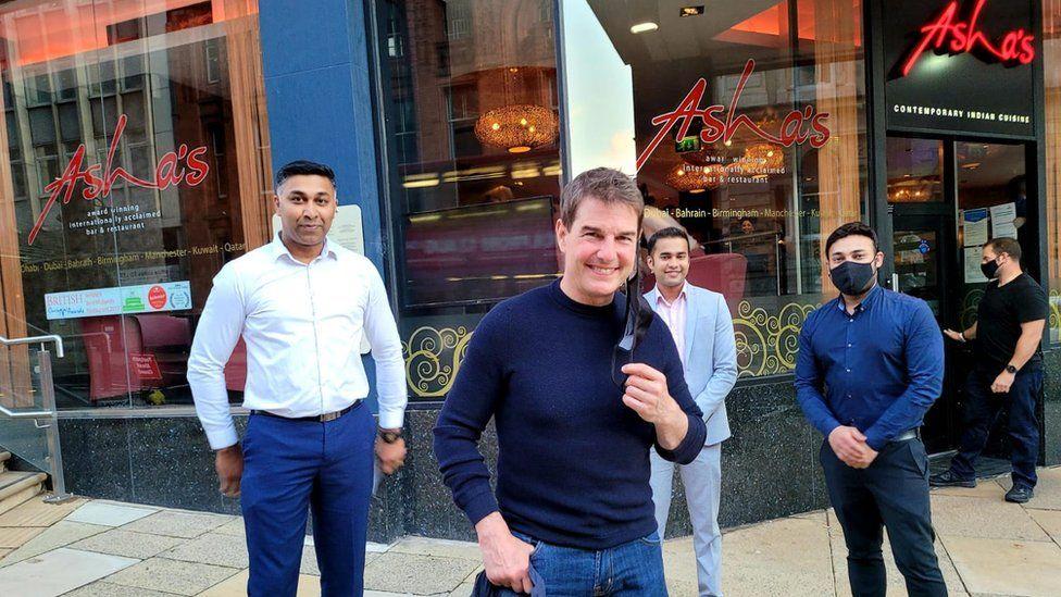 Tom Cruise at Asha's