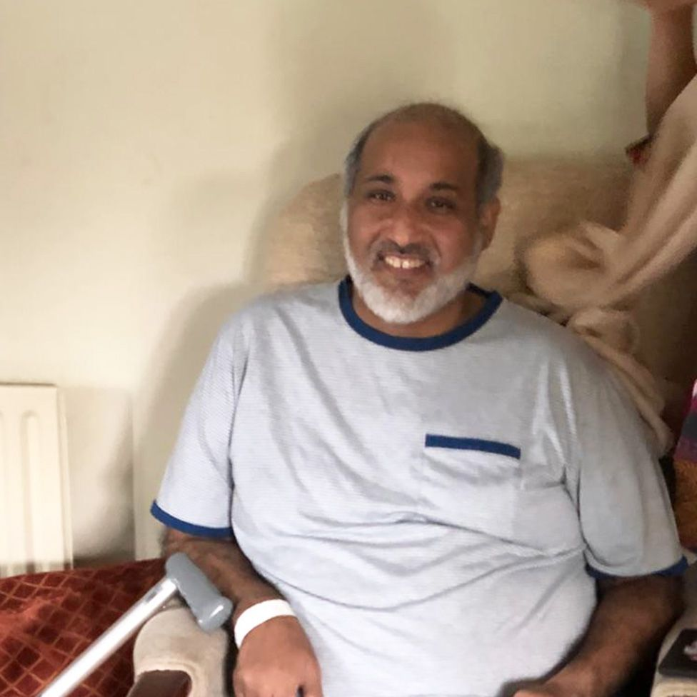 Mohammed Hussain in his favourite chair
