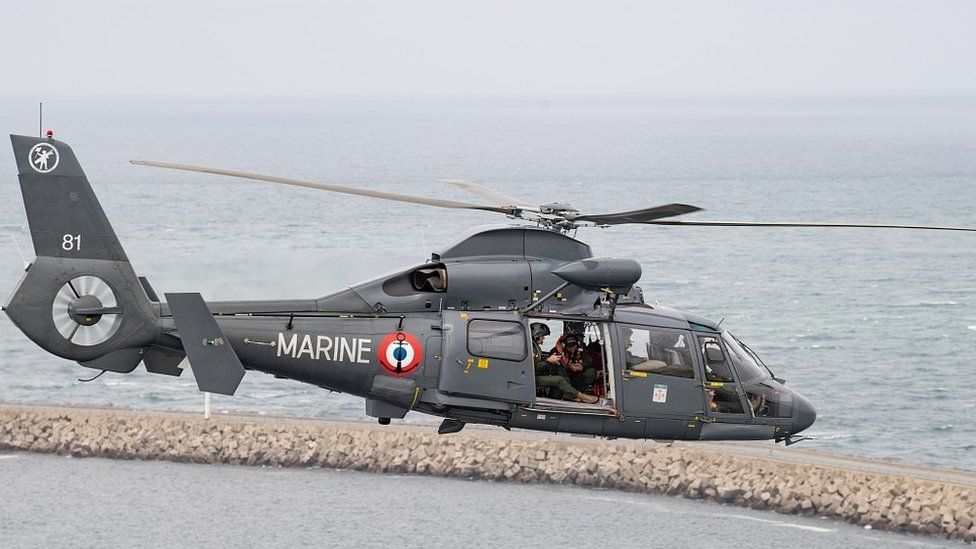 French Navy helicopter