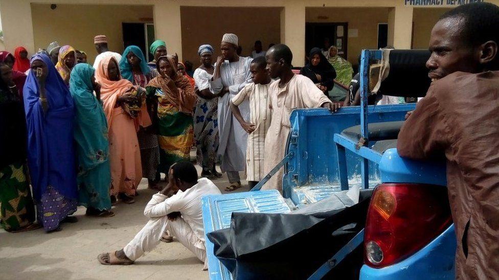 Aftermath of Boko Haram attack in Maiduguri