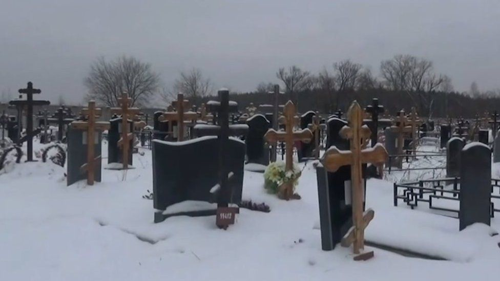 Cemetery where victims were abandoned