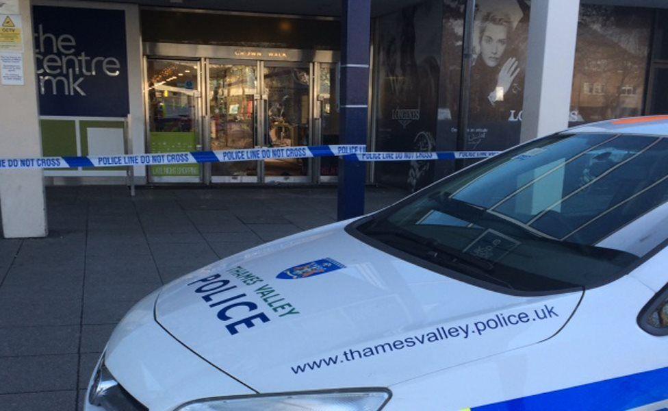 Scene of raid at Fraser Hart jewellers in Milton Keynes