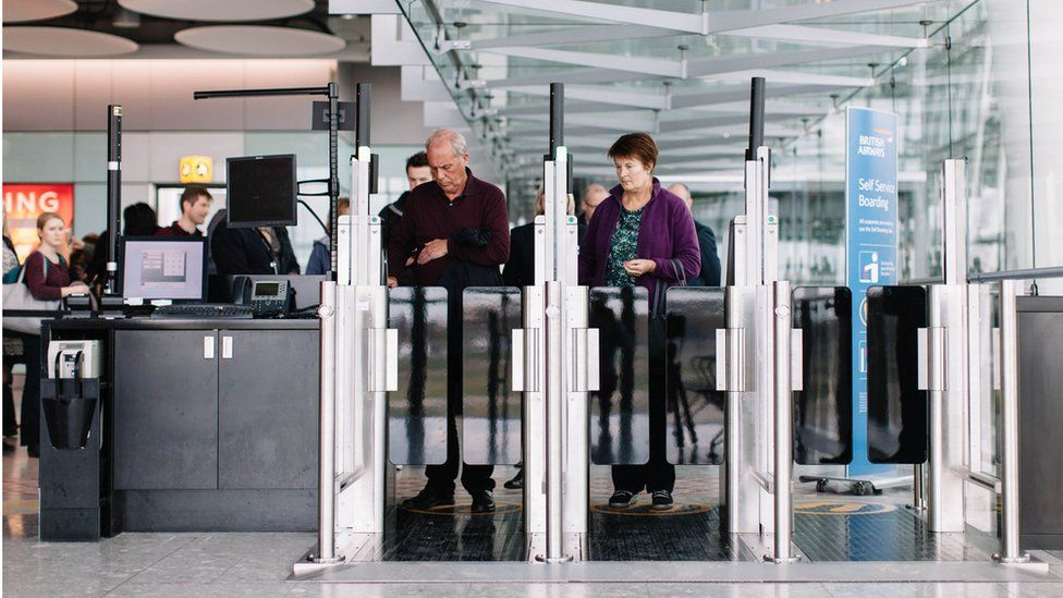 Biometric self-boarding gates at Heathrow Terminal 5