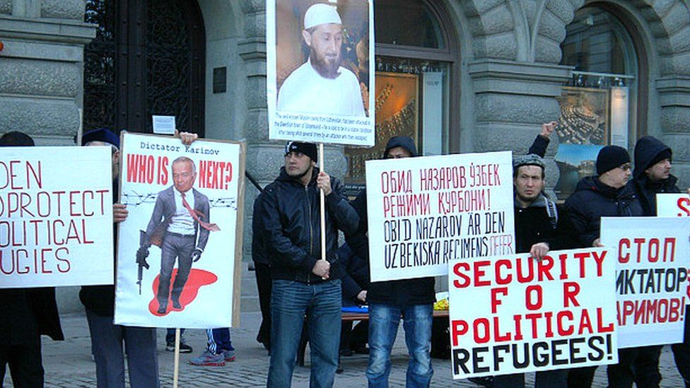 Protests in Sweden over the attempted murder of Obid-kori Nazarov (file photo 2012)
