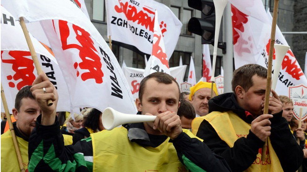 Solidarity trade union march in Warsaw 2013