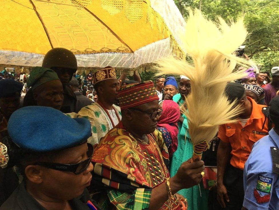 Ataoja, king of Osogbo town of Osun State where the festival is hosted