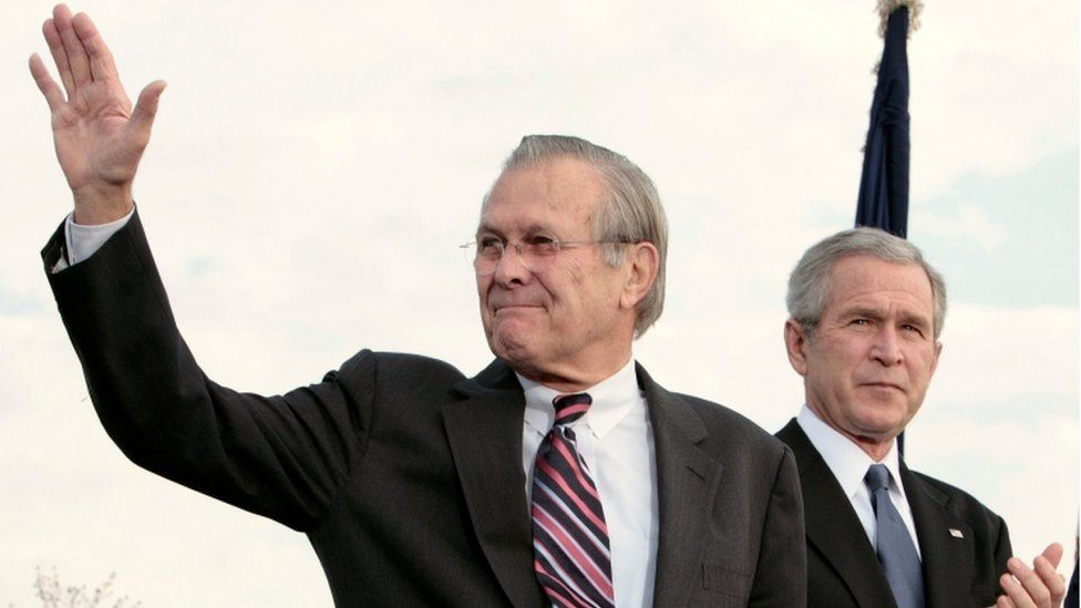 Rumsfeld and Bush