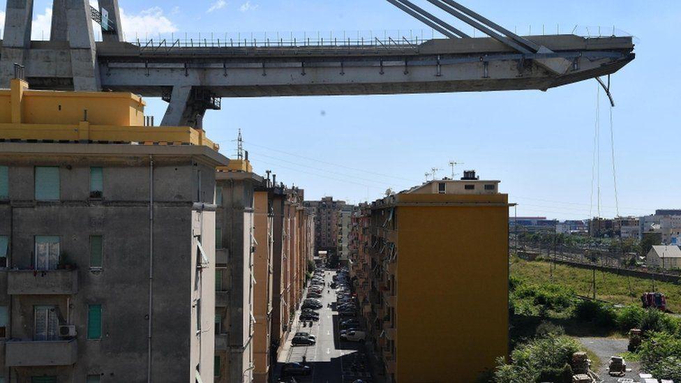Morandi bridge in Genoa