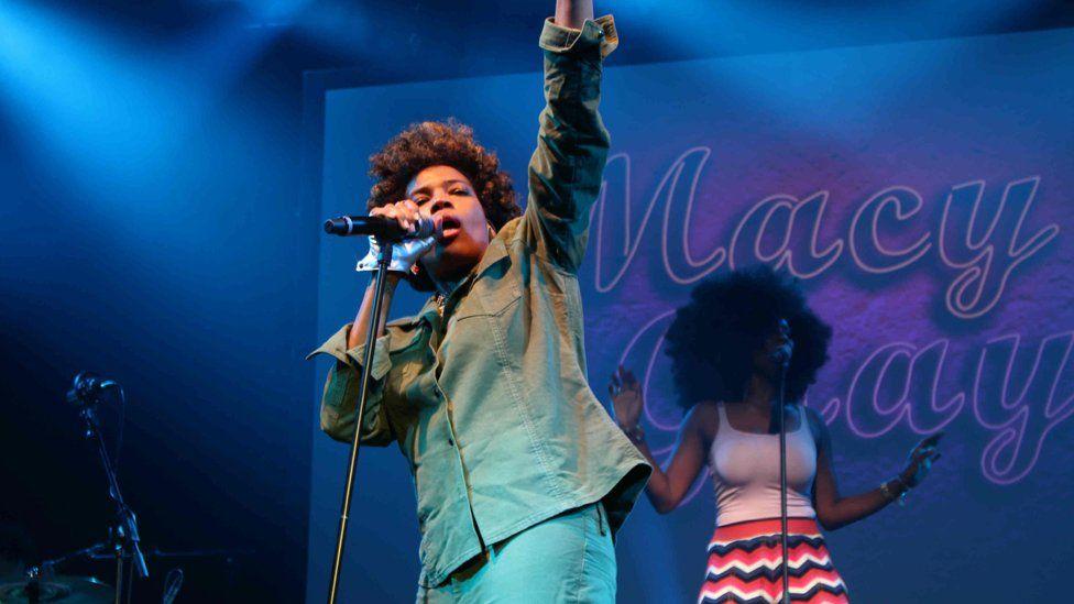 May Gray performing at Womad