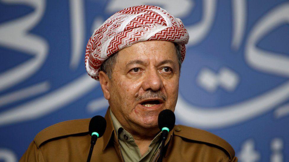 File photo showing Kurdistan President Massoud Barzani (29 September 2016)