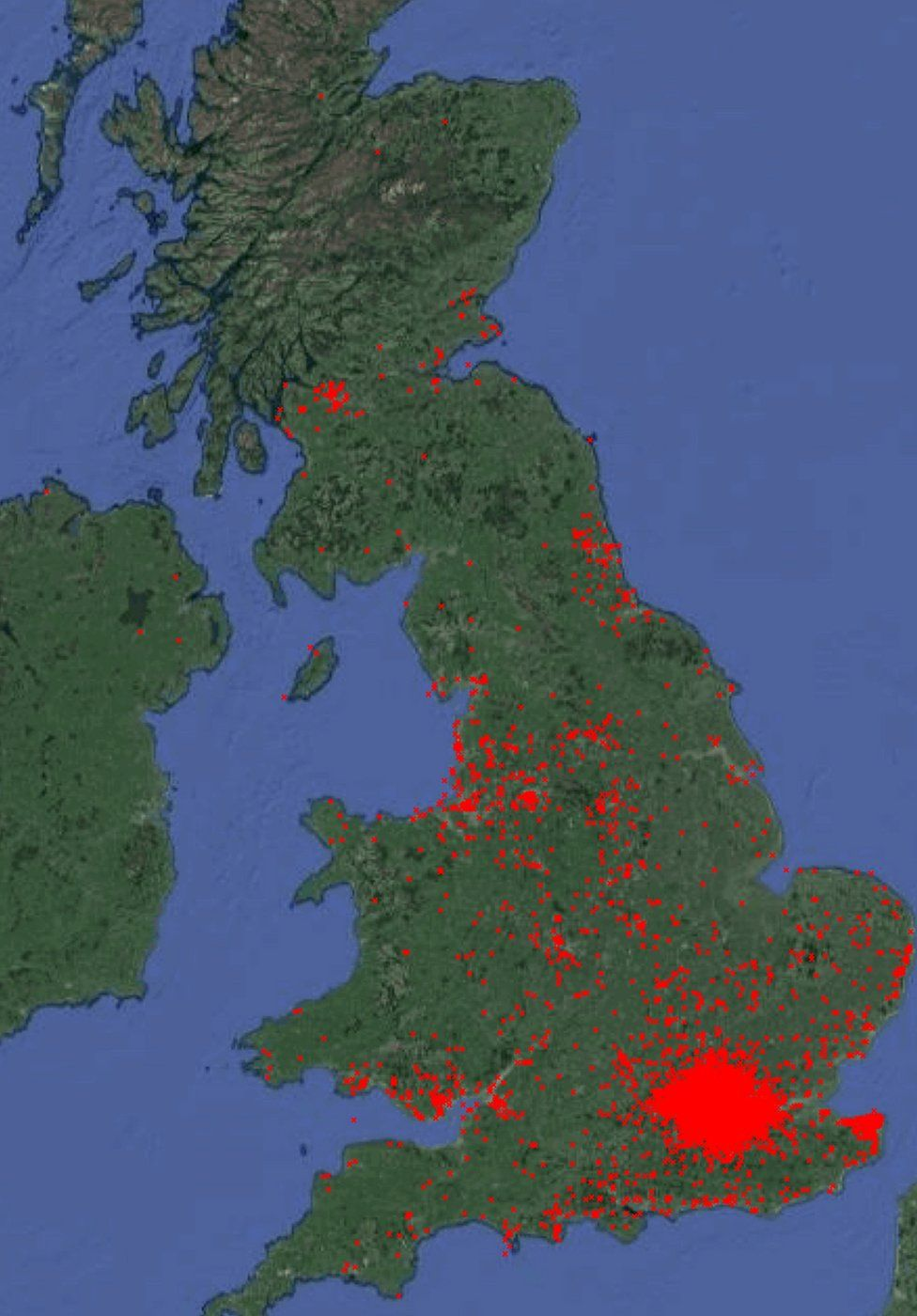 map of parakeet spread