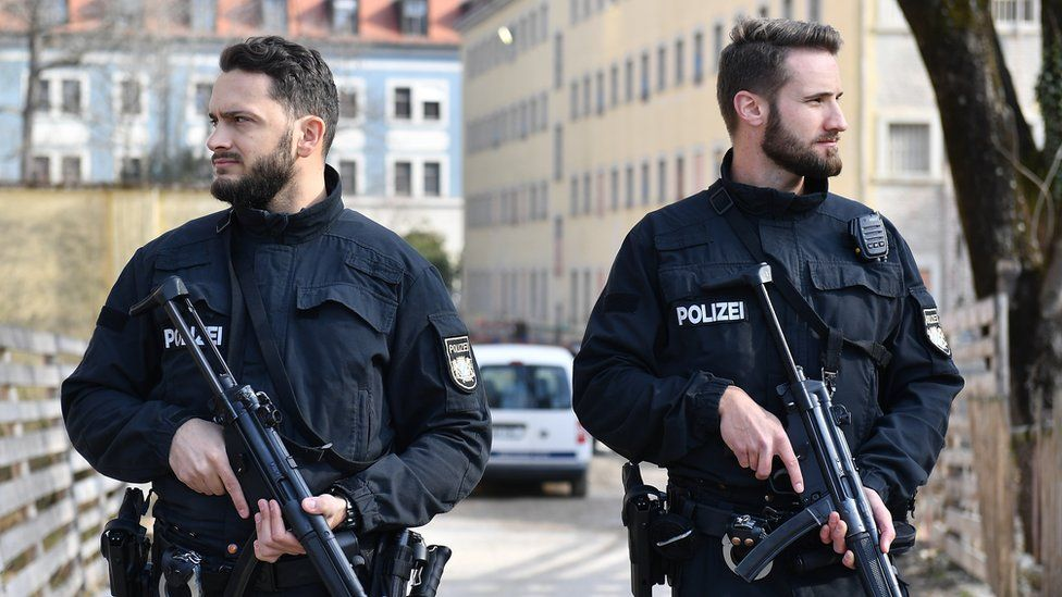 German armed police (file pic)