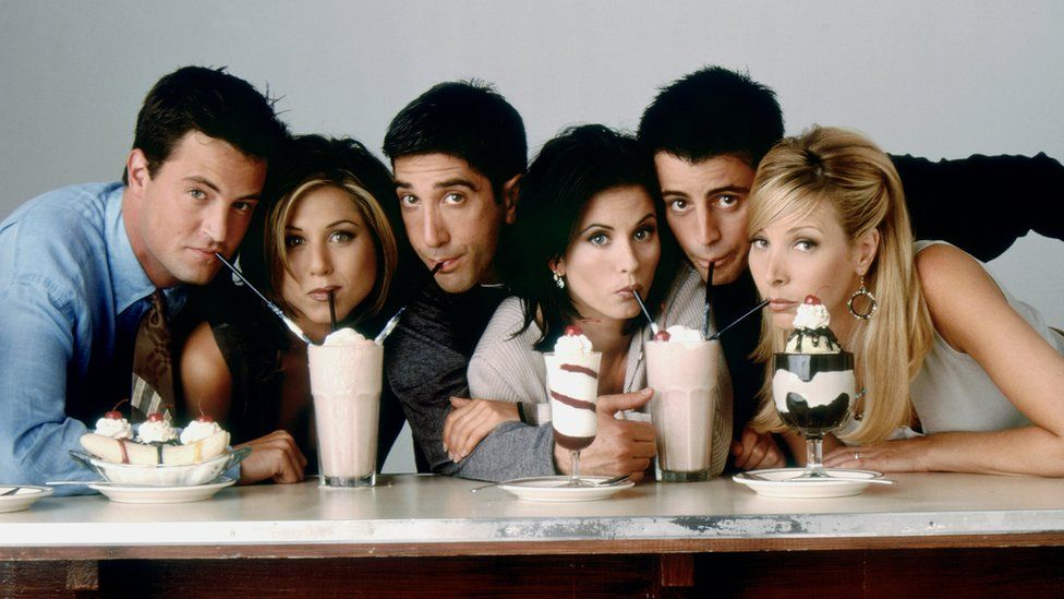 Lighter blue jeans worn by the characters in the TV show friends are becoming popular