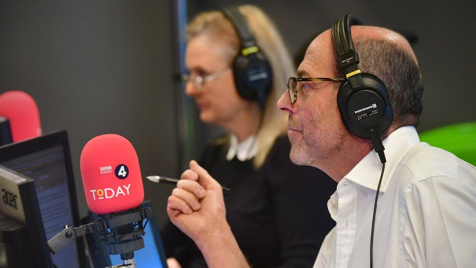 Nick Robinson in the Today programme studio