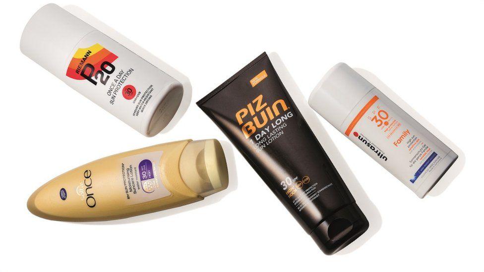 4 brands of sunscreen