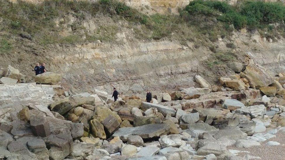Suspected migrants landing on East Sussex coast