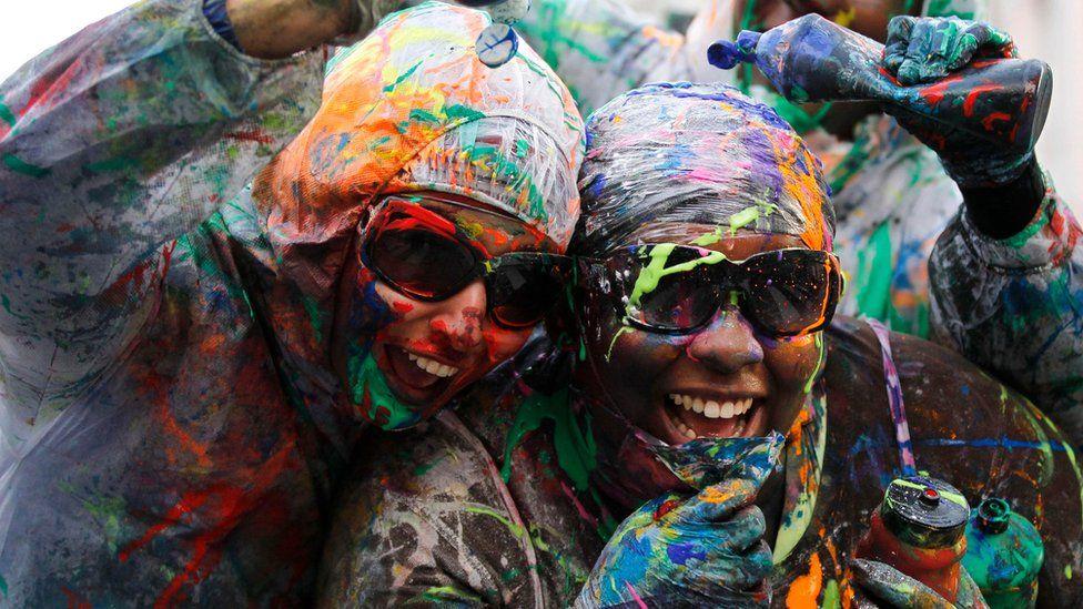 Jouvert celebration at Notting Hill Carnival 2011