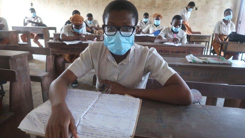 A school reopens in Lagos Nigeria after the coronavirus lockdown