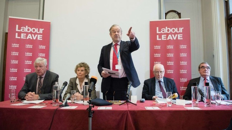 Kate Hoey and John Mills at Labour Leave launch