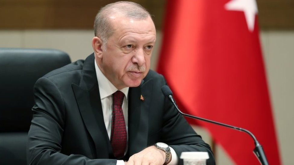 Turkish President Recep Tayyip Erdogan speaks in Istanbul, Turkey. Photo: 3 February 2020