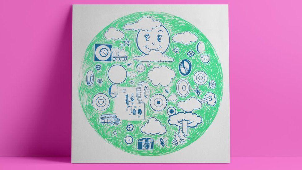 Adam Bridgland's design of the album A Ghost is Born by Wilco