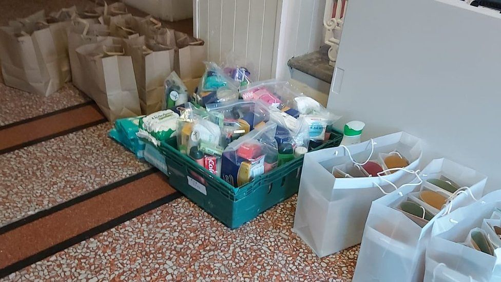 Over the pandemic, art packs donated by local artists have also been given out alongside food parcels