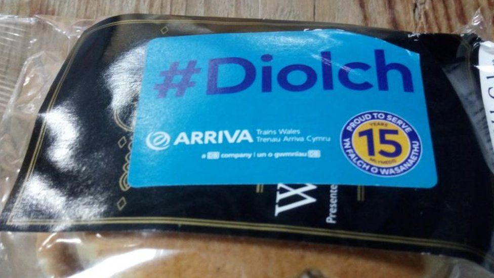 Arriva Trains Wales customers were given Welsh cakes on Friday