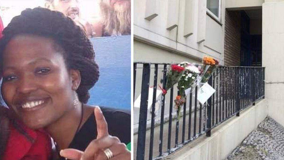Victim Khabi Abrey and the block of flats