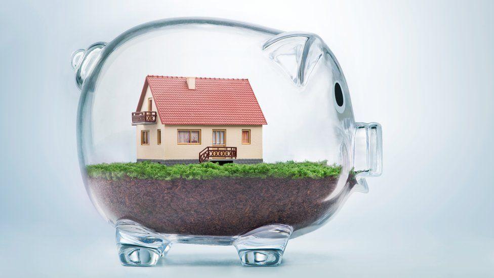 house in a piggy bank