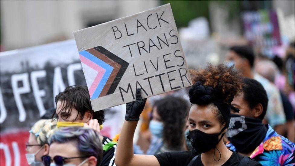 Black Trans Lives Matter protester
