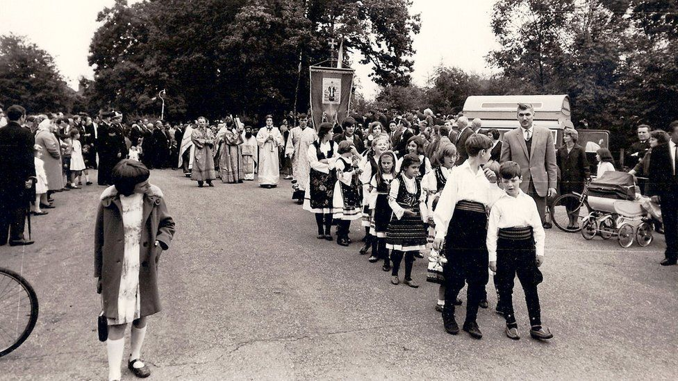 The opening ceremony for the Serbian Orthodox Church of the Holy Prince Lazar in 1966