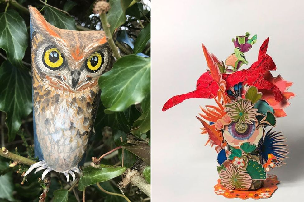 Owl by Isobel Finnie/Hare by KateMcBride