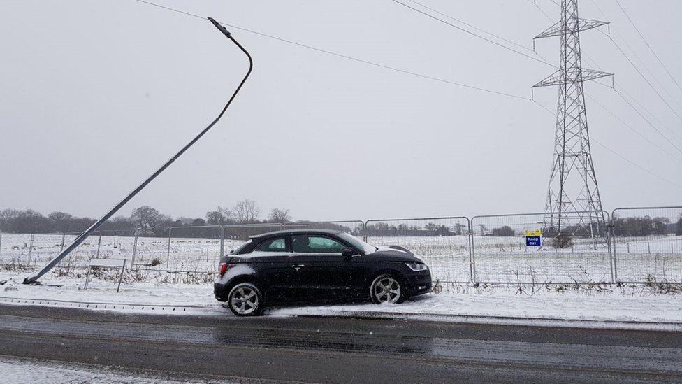 Car crashed near Radyr