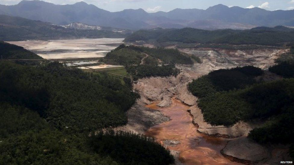 Dam owned by Samarco in Mariana, Brazil