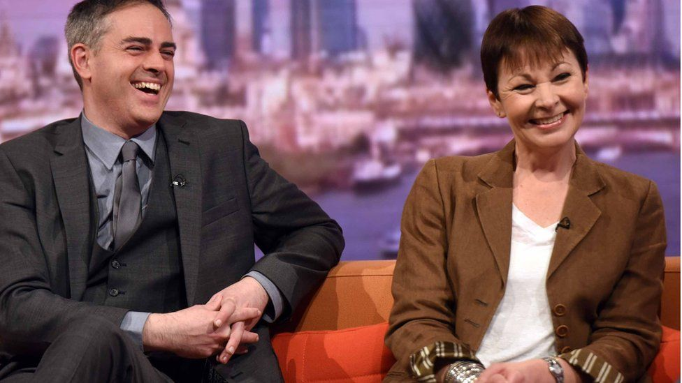 Jonathan Bartley and Caroline Lucas, co-leaders of the Green Party