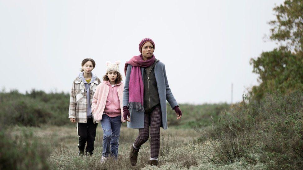 Naomie Harris, Nico Parker and Charlotte Gairdner-Mihell