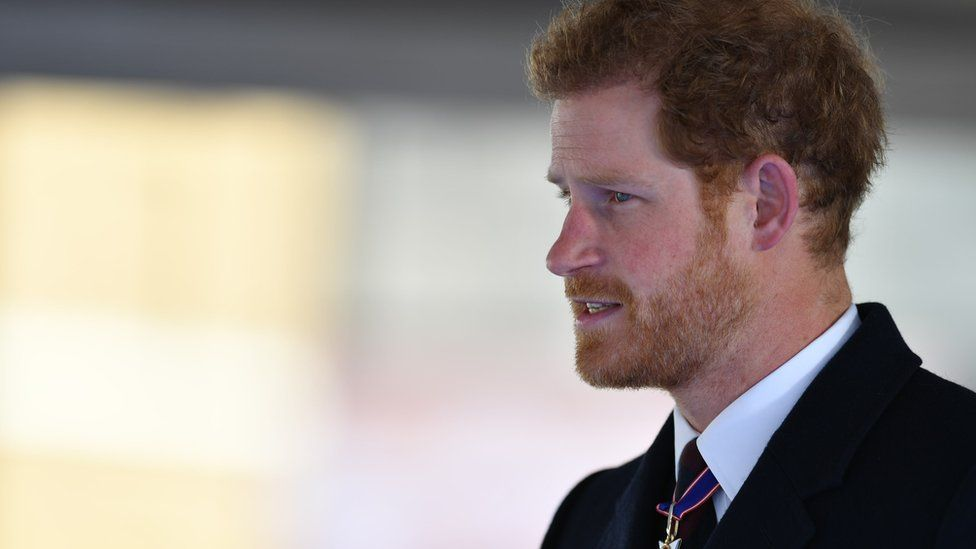 Prince Harry at the memorial