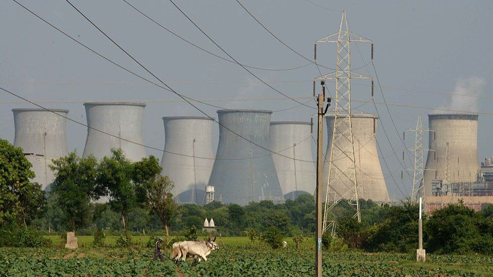 Coal-fired power plant in Gujarat, India