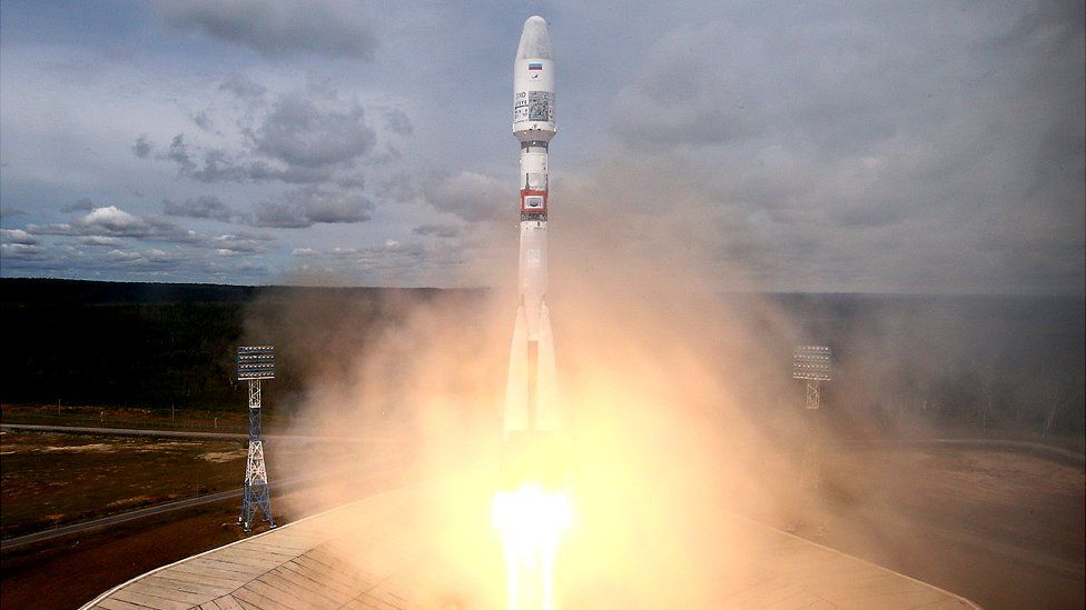Soyuz rocket launch at Vostochny cosmodrome, 5 Jul 19