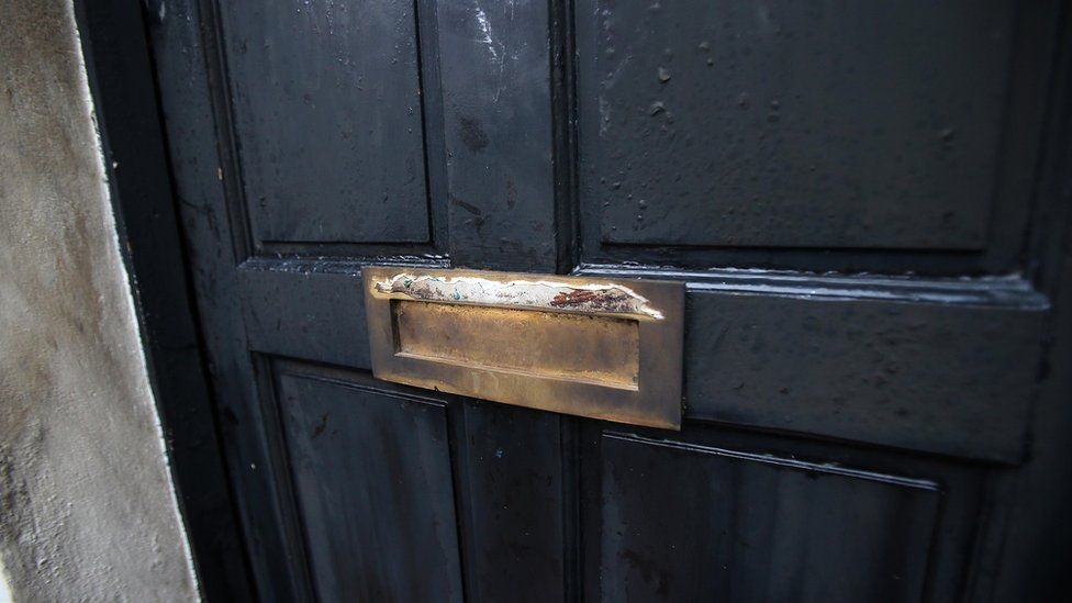 Front door of house in the Hyndford Street area