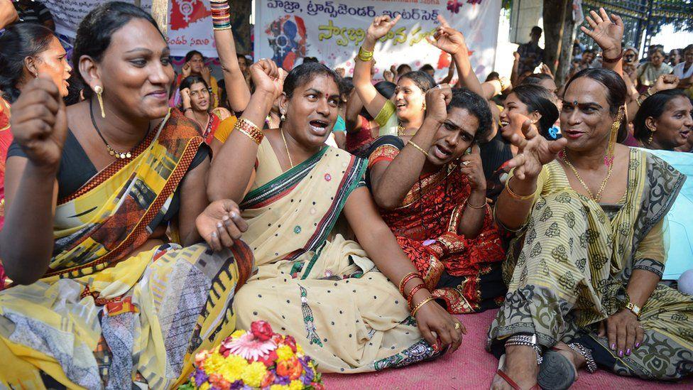 Telangana Hijra Intersex Transgender Samiti (THITS) activists in Hyderabad