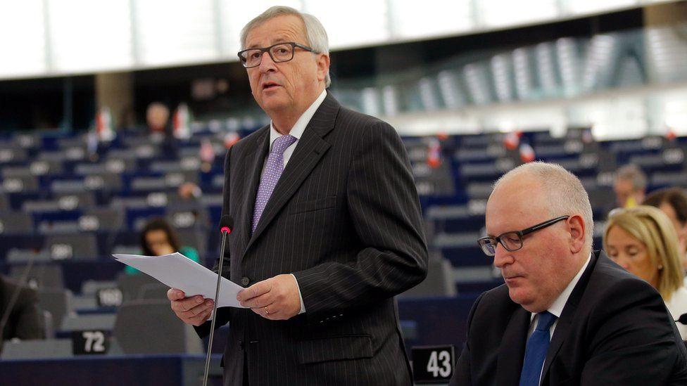 European Commission President, Jean-Claude Juncker, in Strasbourg, 5 July 16